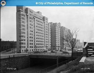 Pennsylvania Avenue, 27th Street and Aspen Street, Wenzel J. Hess, October 17, 1940. (PhillyHistory.org)